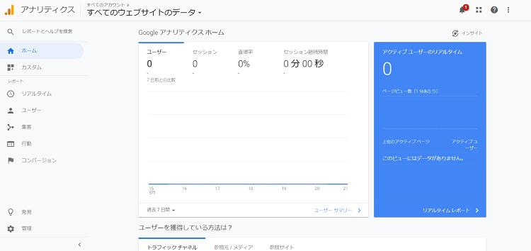 SEO分析ツール Google Analytics